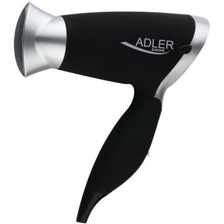 Hair Dryer Adler Warranty 24 month(s), Foldable handle, Motor type DC, 1250 W, Black/Silver