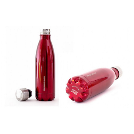 Yoko Design Isothermal Bottle 500 ml, Shiny red