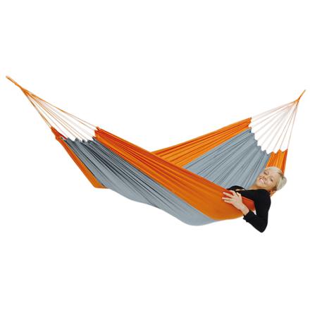 Amazonas Silk Traveller techno (orange-grey) Travel Hammock, 220x140 cm, 150 kg