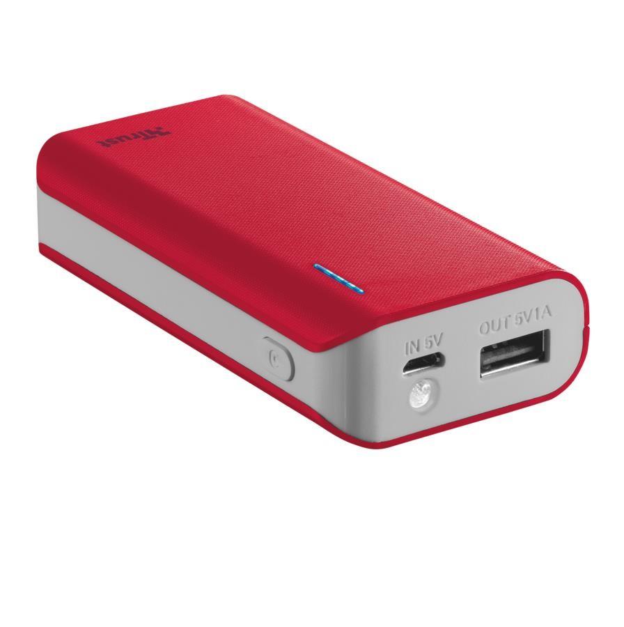 POWER BANK USB 4400MAH PORTAB./RED PRIMO 21226 TRUST