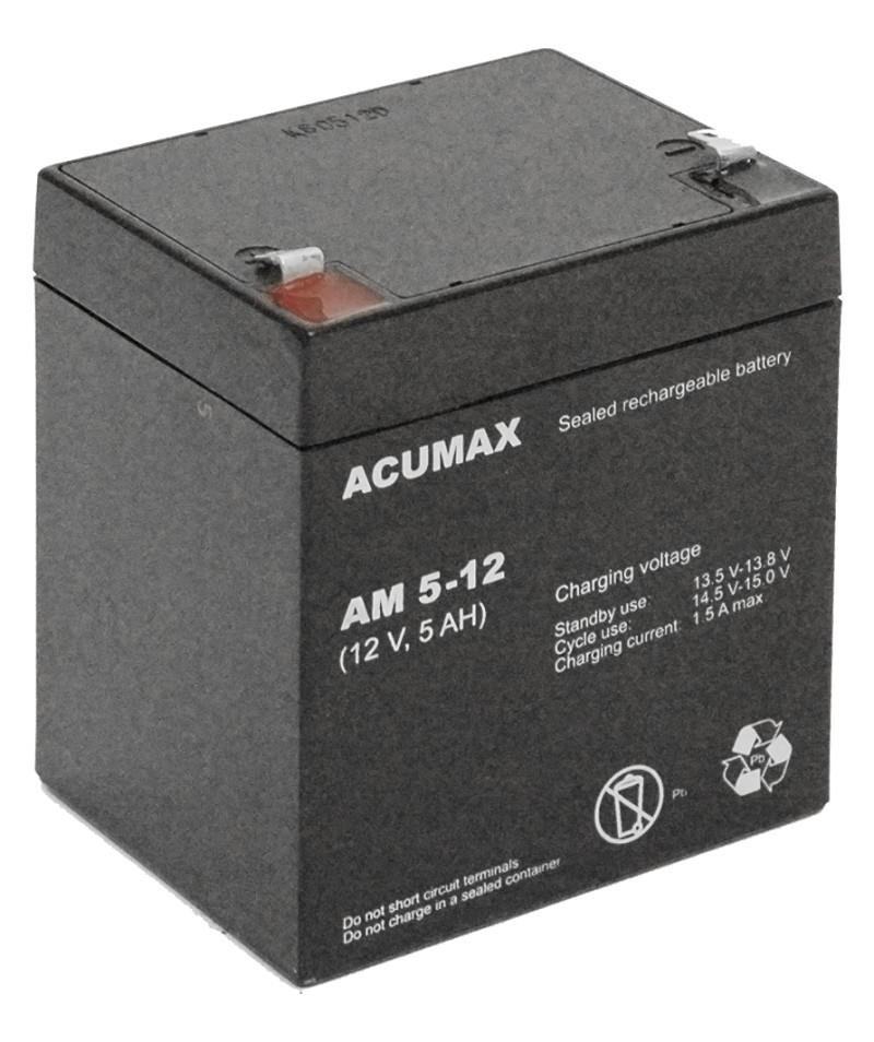 BATTERY 12V 5AH VRLA/AM5-12 ACUMAX EMU