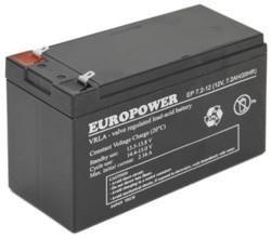 BATTERY 12V 7.2AH VRLA/EP7.2-12 T2 EUROPOWER EMU