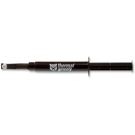 """Thermal Grizzly Thermal grease  """"Hydronaut"""" 1ml/2.6g Thermal Grizzly Thermal Grizzly Thermal grease """"Hydronaut"""" 1ml/2.6g Thermal Conductivity: 11.8 W/mk; Thermal Resistance 0,0076 K/W; Electrical Conductivity*: 0 pS/m; Viscosity: 140-190 Pas;  Temperature: -200 °C / +350 °C;"""
