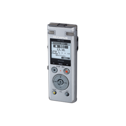 Olympus DM-770 Digital Voice Recorder Olympus DM-770 Microphone connection, MP3 playback