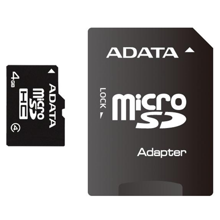 ADATA 32 GB, MicroSDHC, Flash memory class 4, SD adapter