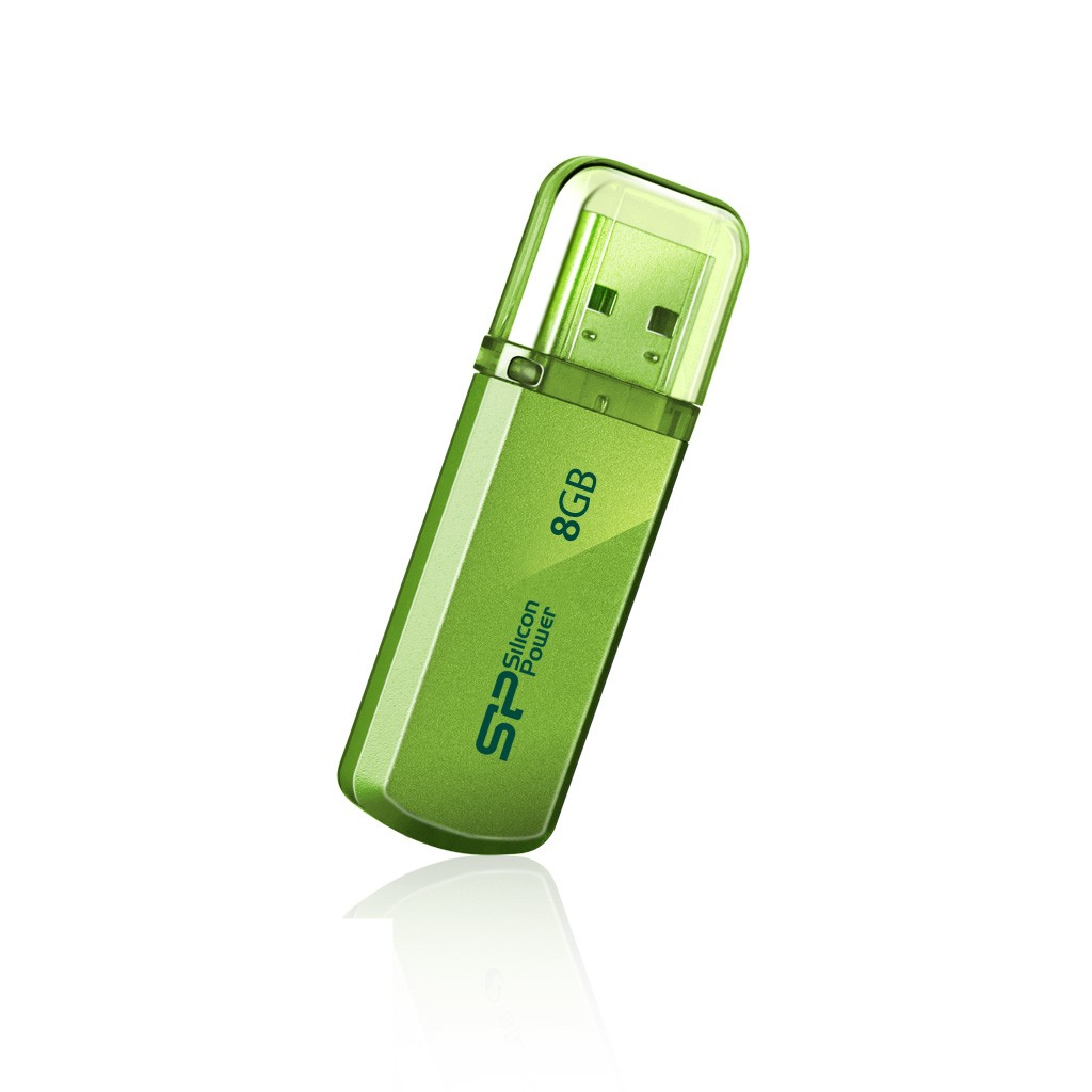 Silicon Power Helios 101 8 GB, USB 2.0, Green