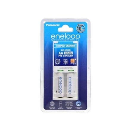 Eneloop Basic charger K-KJ50MCC20E + 2  AA batteries (1900mAh) Panasonic K-KJ50MCC20E Ni-MH, Kit contents   2 x AA rechargeable batteries (1900mAh)